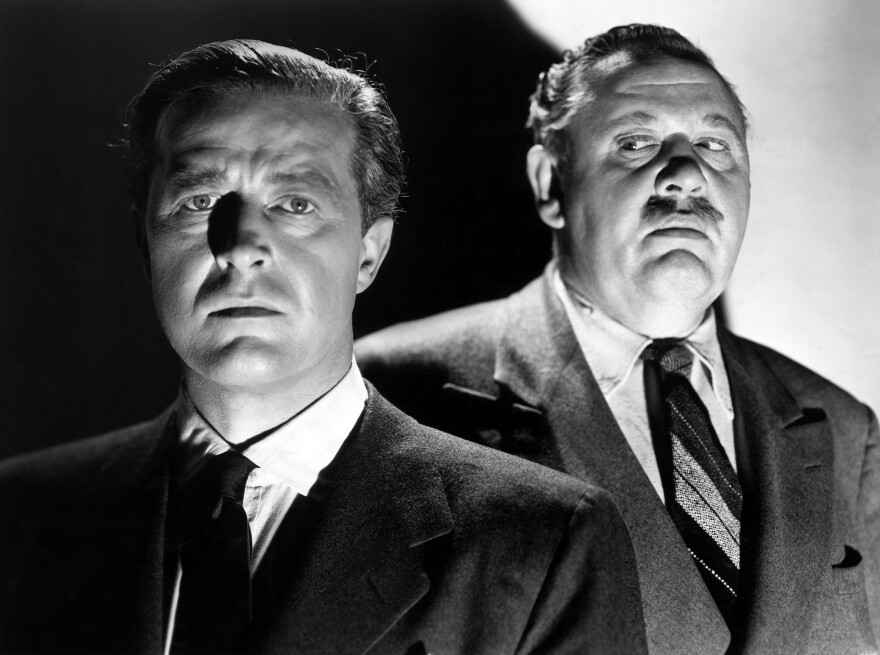 The 1948 thriller <em>The Big Clock</em>, starring Ray Milland (left) and Charles Laughton, will be broadcast on July 3.