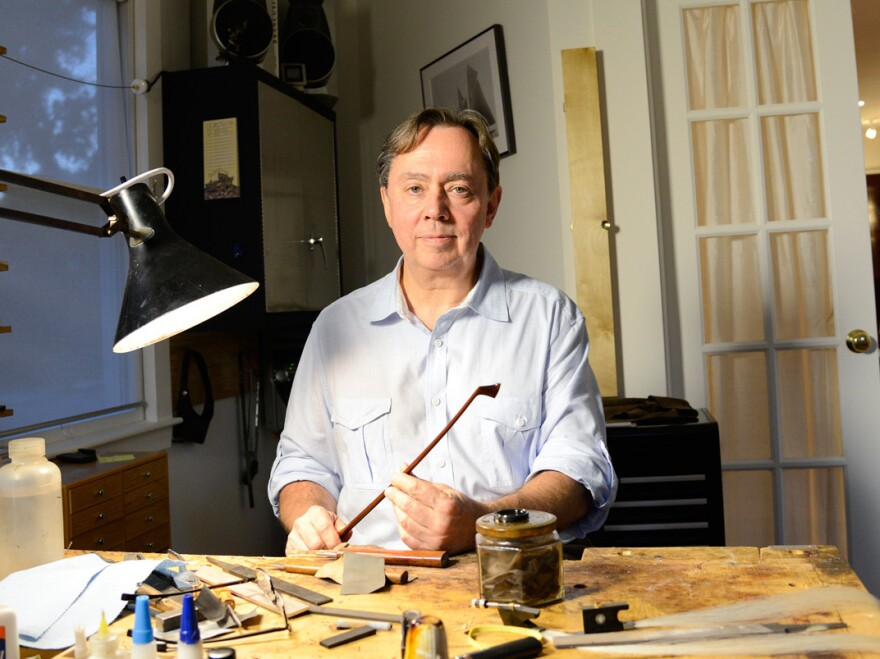 Over the past four decades, Benoit Rolland has made more than 1,400 bows for violins, violas and cellos.