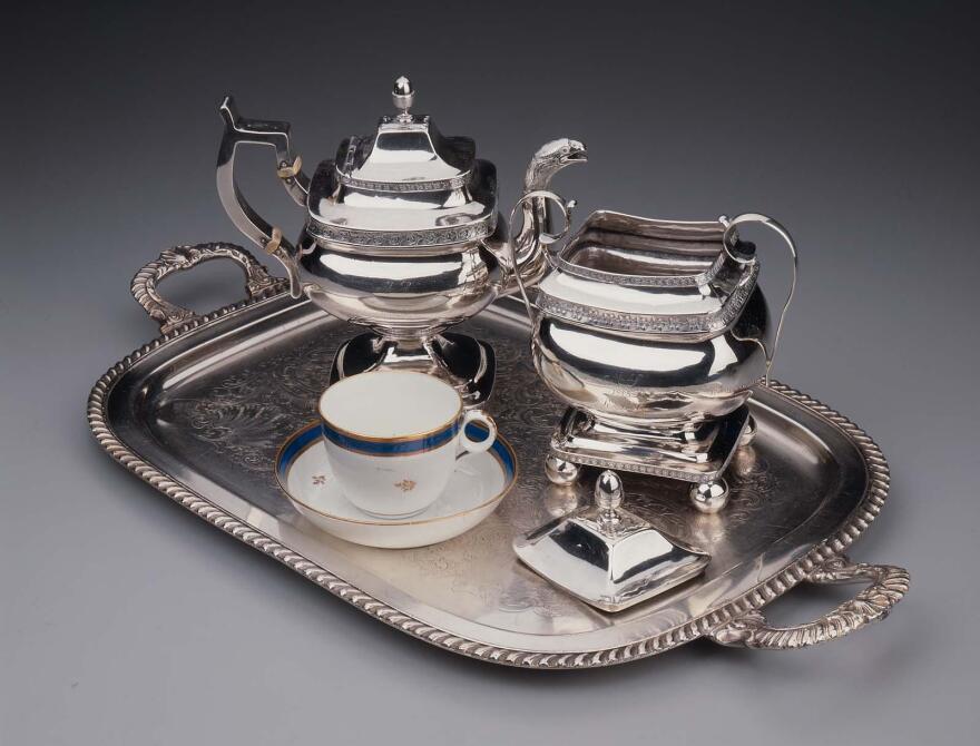 Silver Teapot, Phillip Garrett, about 1813