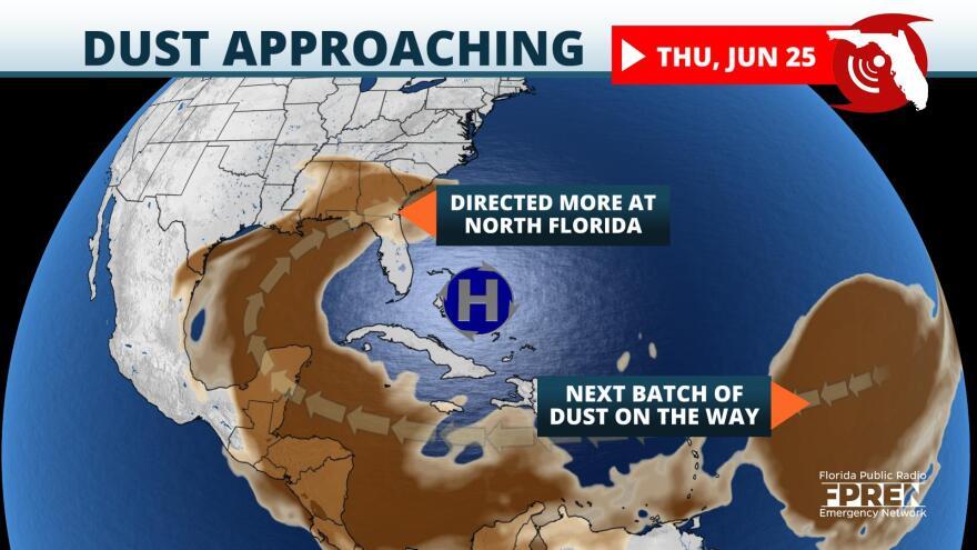 Saharan dust approaching Florida Thursday