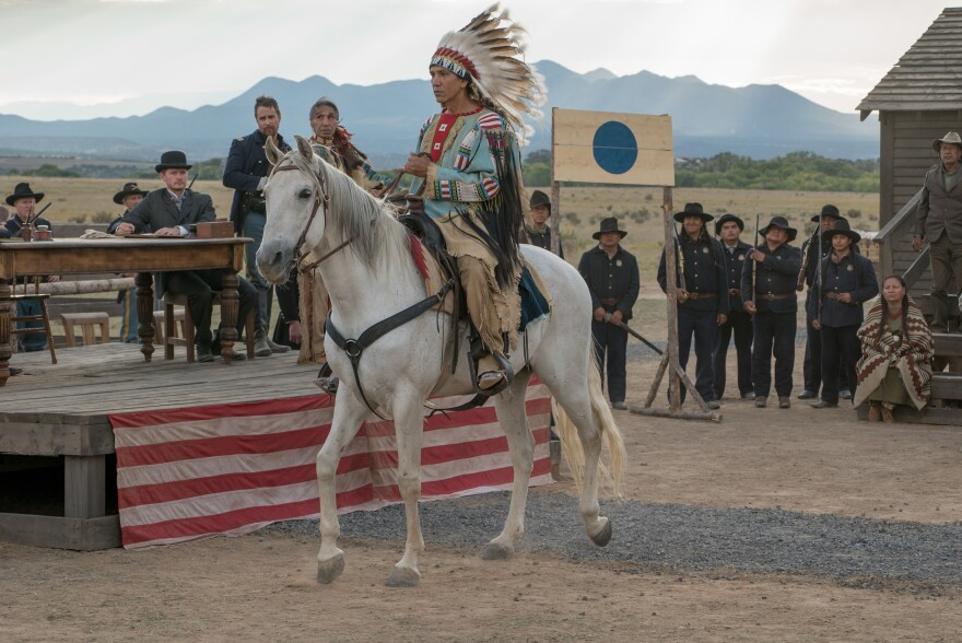 """In portraying the great historical figure Sitting Bull, actor Michael Greyeyes says that he is playing """"a hero to indigenous people around the world."""""""