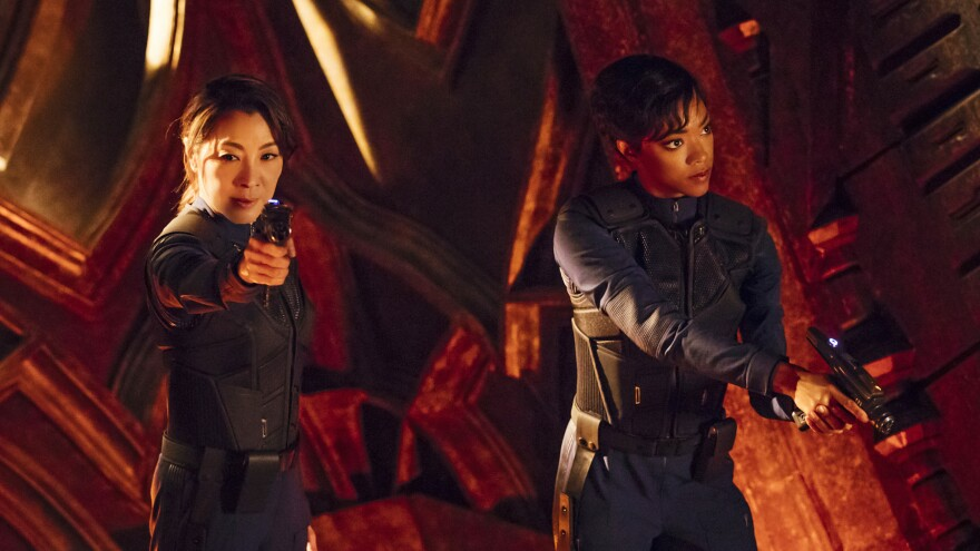 Hong Kong action star Michelle Yeoh and <em>Walking Dead</em> alum Sonequa Martin-Green play Philippa Georgiou and Michael Burnham, respectively, in CBS' <em>Star Trek: Discovery</em>.