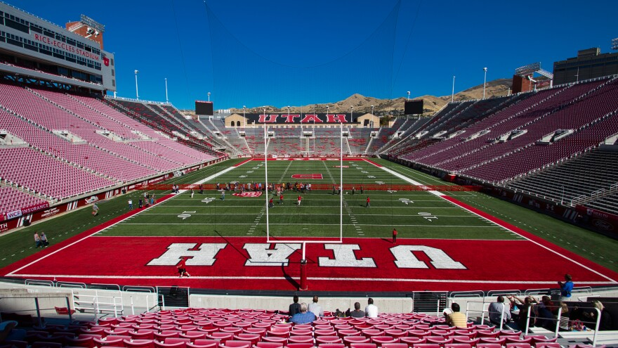 Photo of the University of Utah football stadium