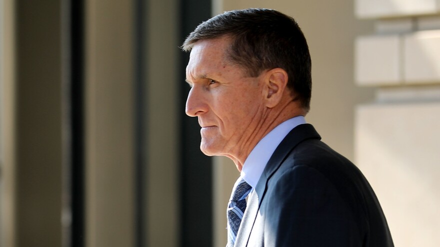 Michael Flynn, former national security adviser to President Trump, leaves following a plea hearing at the federal court house in Washington, D.C. on Dec. 1.