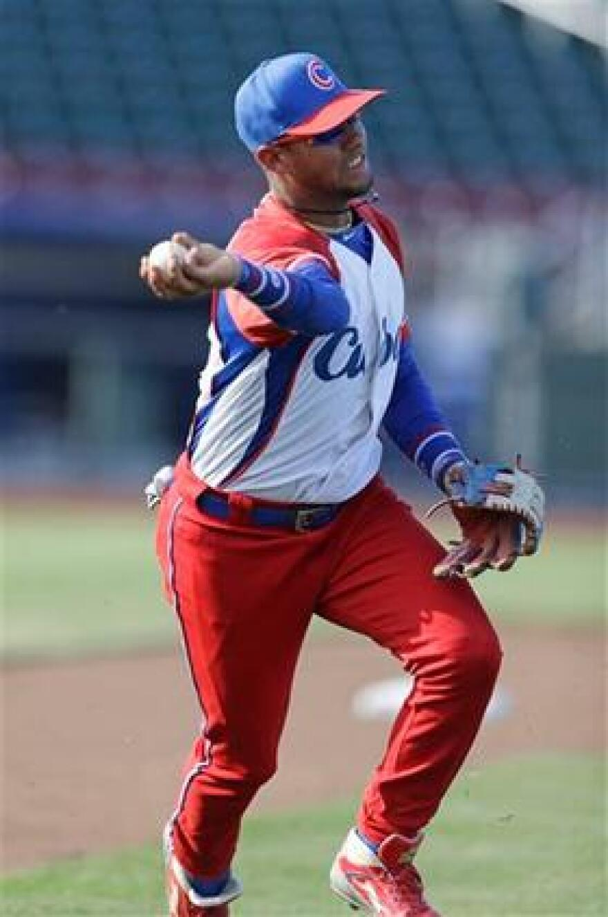 Newly defected Cuban baseball star Yulieski Gourriel