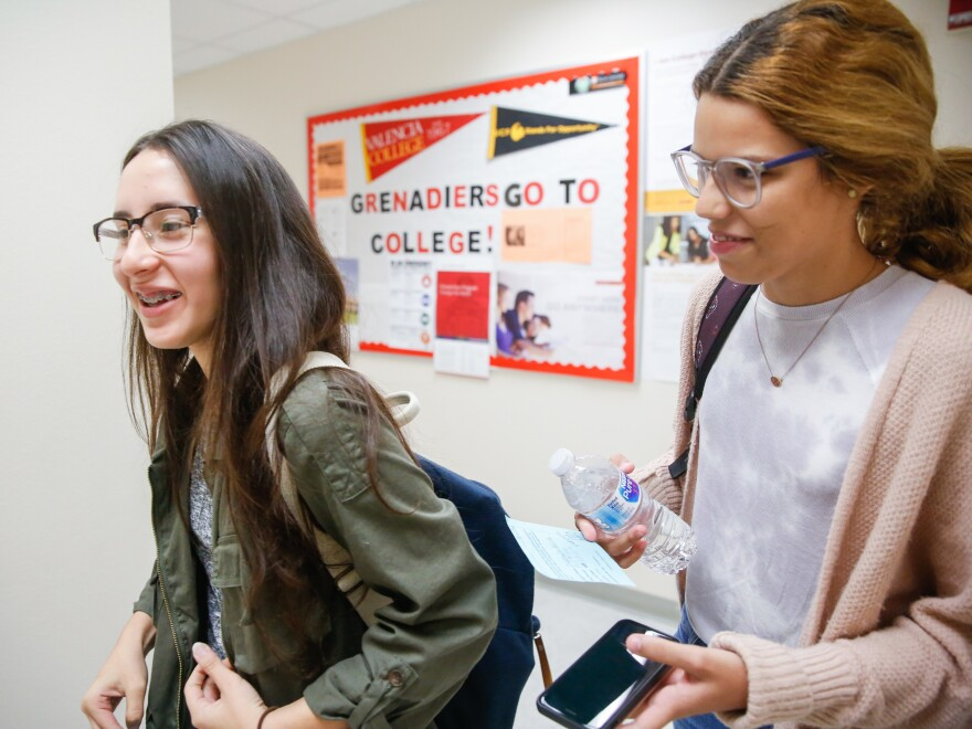 Yerianne Roldán and Zuleyka Avila are both seniors at Colonial High School in Orlando, scrambling to readjust their plans for college.