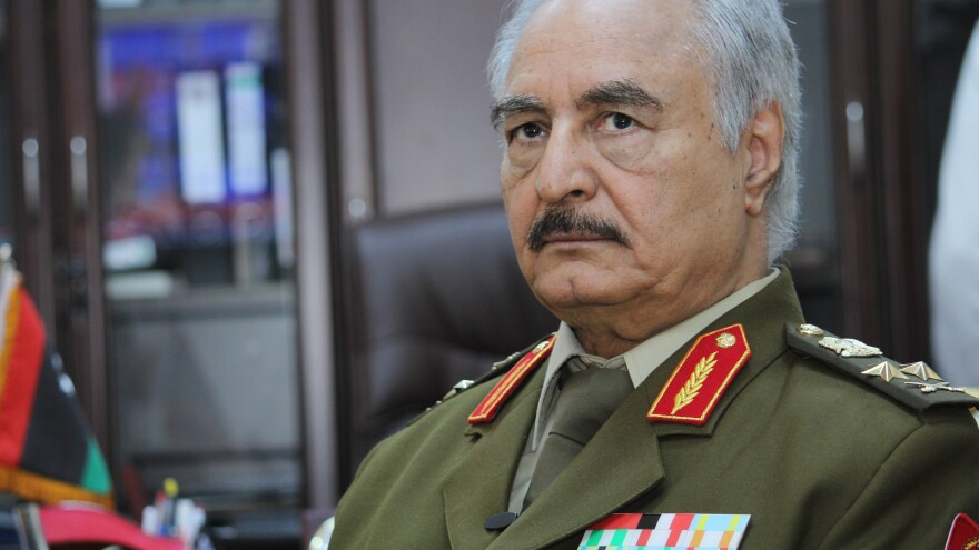 Gen. Khalifa Haftar is Libya's former top army chief. He now leads the Libyan National Army, which is advancing toward the U.N.-backed government in Tripoli.