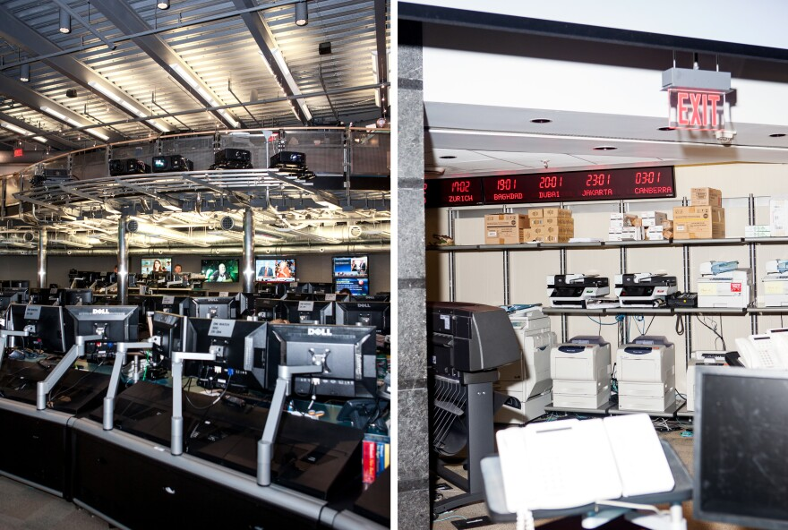 Inside the National Counterterrorism Center operations room.