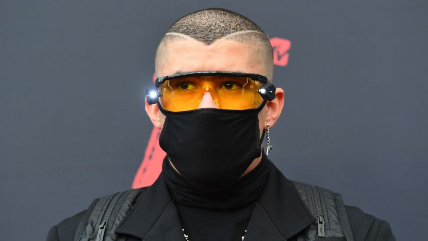 Bad Bunny, photographed at the 2019 MTV Video Music Awards  in Newark, N.J. on Aug. 26, 2019.