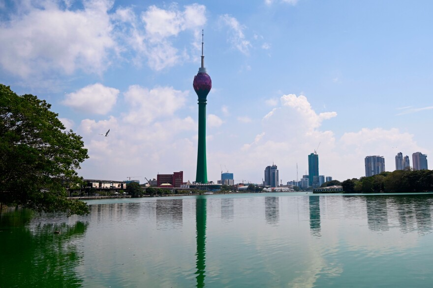 The Chinese-built Lotus Tower in Colombo is billed as South Asia's tallest tower.