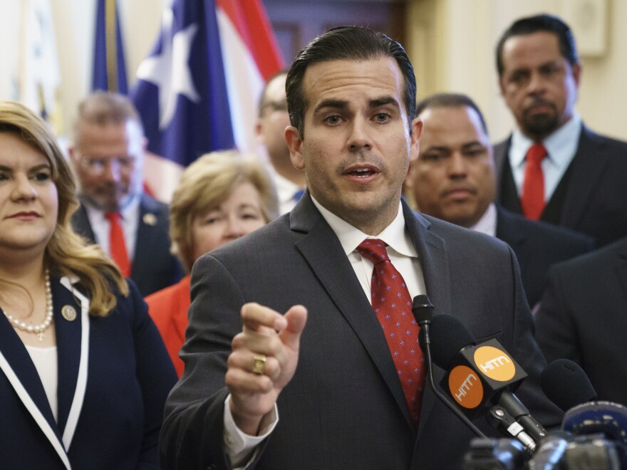 Puerto Rico Gov. Ricardo Rosselló announced late  Wednesday that he is resigning from office amid a scandal over hundreds of pages of text messages he exchanged with his inner circle that included sexist, homophobic and other insulting material.