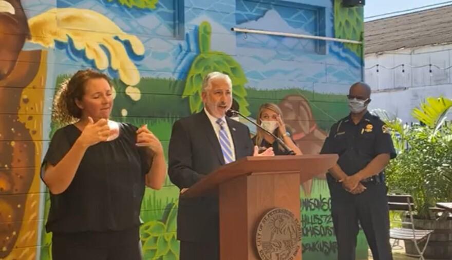 St. Petersburg Mayor Rick Kriseman addresses the media on Tuesday.