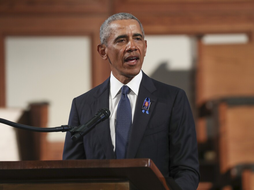 So far, former President Barack Obama has mostly stayed away from the presidential campaign this year.