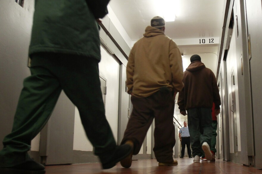 Inmates at New York's Coxsackie Correctional Facility. Gov. Andrew Cuomo says reinstating state-funded prison college programs will ultimately save taxpayers money.
