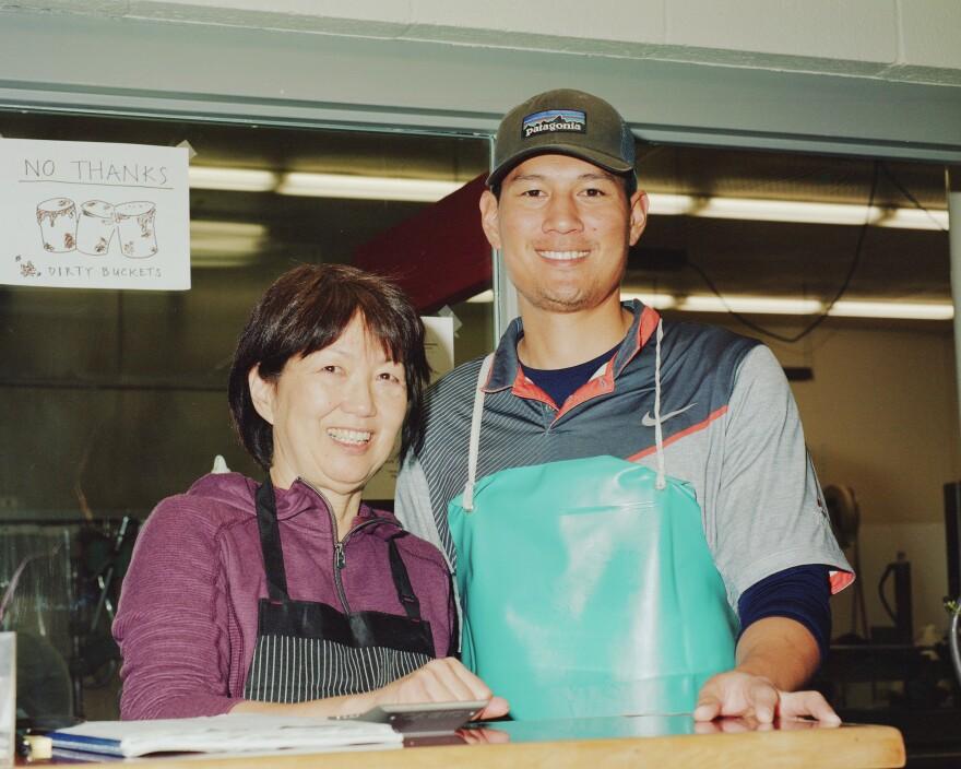 Jason Ogata, the new owner of Ota Tofu, and his mom, Sharon Ogata.