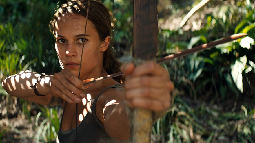 Farewell, Angelina: Alicia Vikander takes over as Lara Croft in <em>Tomb Raider, </em>based on a 2013 video game reboot of the now 22-year-old media franchise.