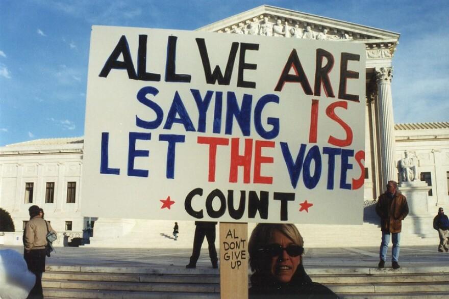 Supreme Court 2000 protest