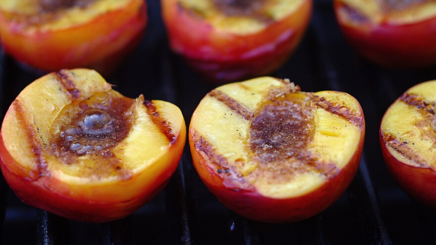 Jack Bishop of <em>America's Test Kitchen</em> says the trick to grilling peaches is using fruit that's ripe but firm.