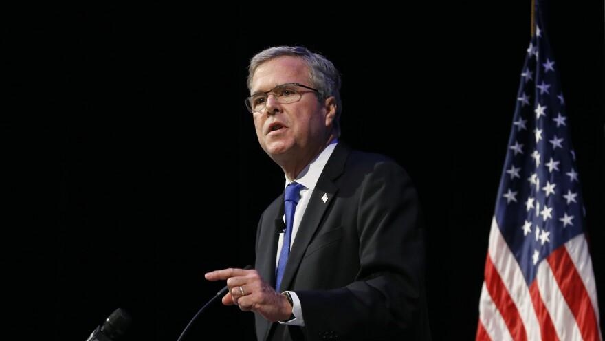 Former Florida Gov. Jeb Bush speaks at an Economic Club of Detroit meeting on Feb. 4.