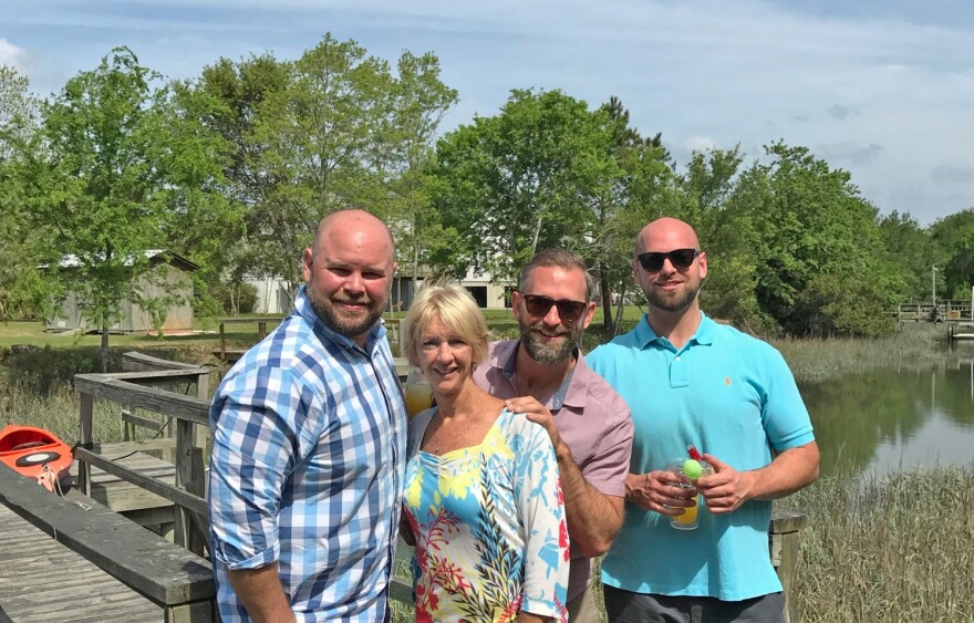 Drew Wynne (right), and his mother Cindy, with brothers, Brian and Clayton Wynne pose for a family picture at their home in South Carolina in 2017. He died that year from exposure to a paint remover.