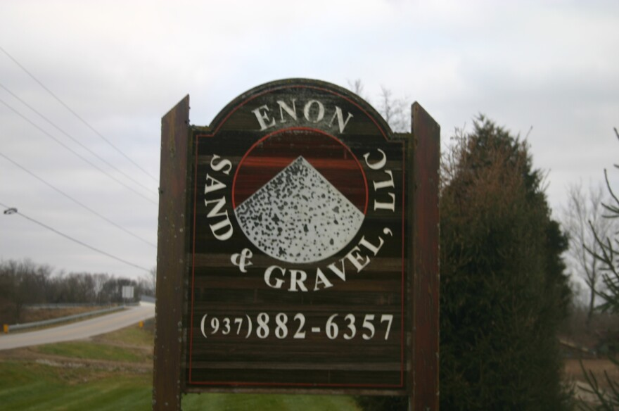The sign outside of Enon Sand & Gravel, LLC's offices