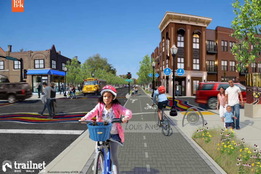 Trailnet claims a 12-mile walking and biking trail network could boost property values and business districts, while making the city more attractive to younger generations.