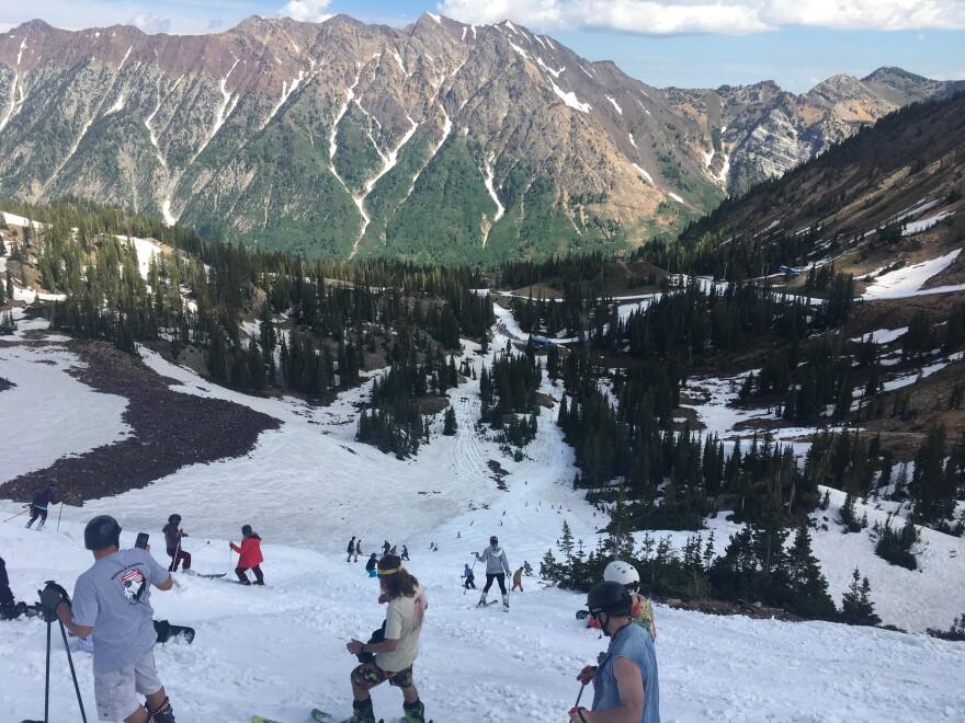 Photo looking down mountain.