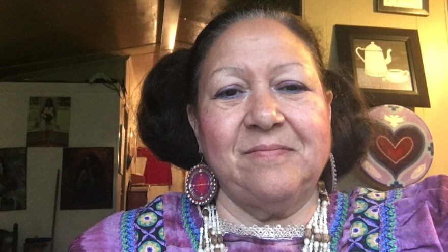Kay Oxendine of the Haliwa Saponi Tribe in North Carolina, was set to serve as the first woman to emcee of the tribe's annual powwow — until the event was canceled amid the coronavirus pandemic.