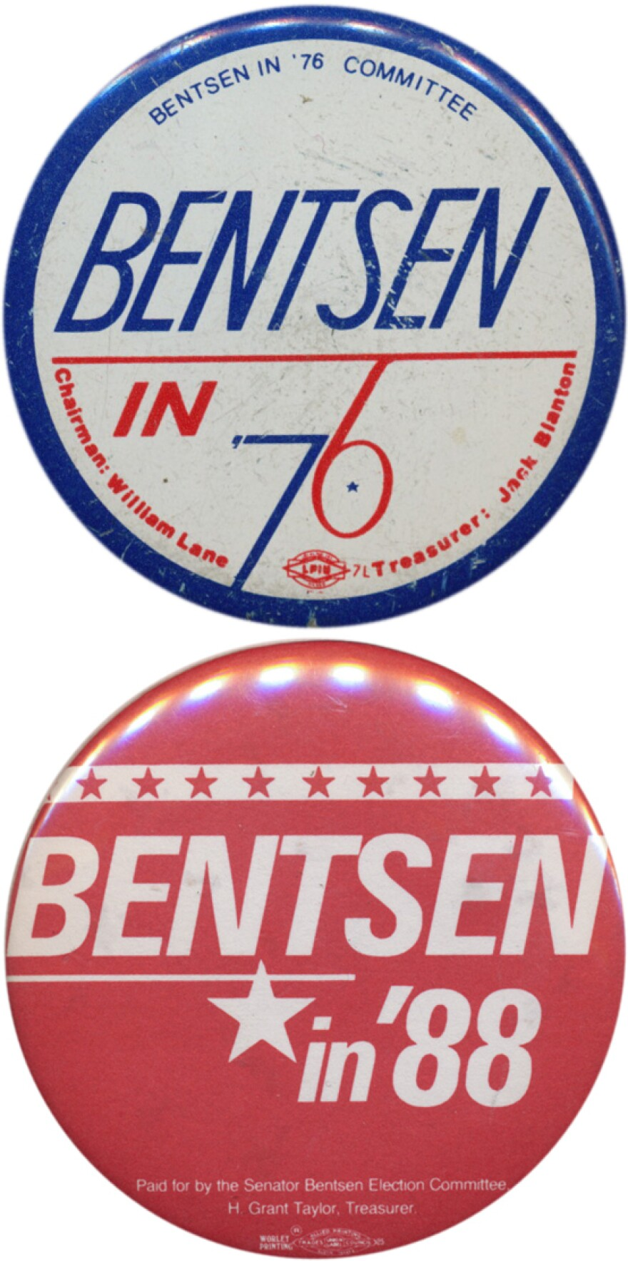 Bentsen sought national office in 1976 and 1988, even as he ran for re-election to the Senate.