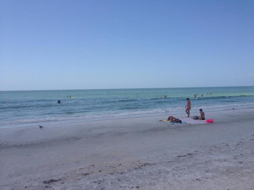 Sunset Beach on Treasure Island in Pinellas County.