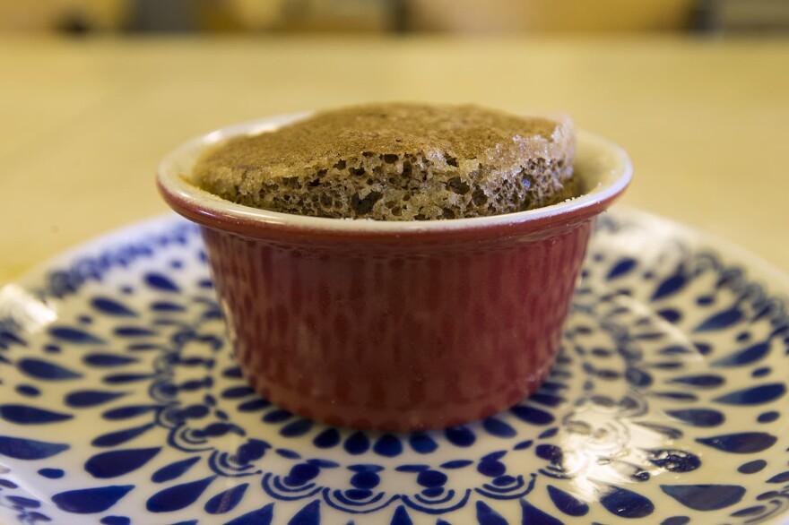 Kathy's chocolate soufflé. (Jesse Costa/WBUR)