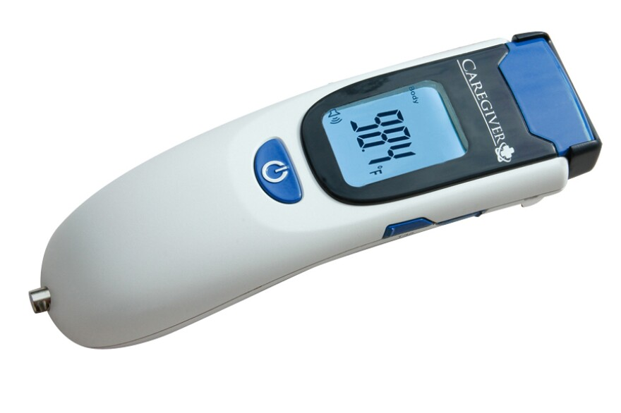 The CDC rush-ordered 80 Caregiver thermometers this week to five airports around the U.S., according to the manufacturer.
