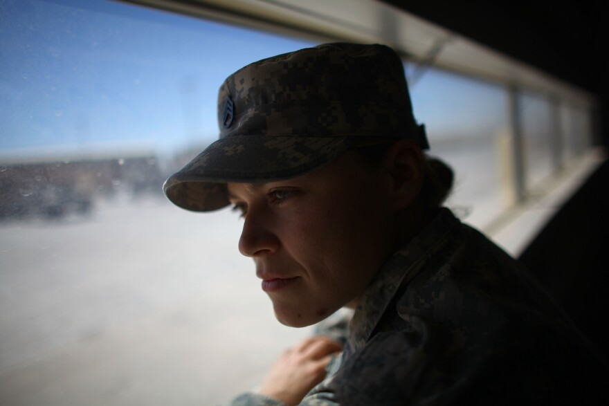 Staff Sgt. Jessica Keown, with the 3rd Brigade, 1st Armored Division at Fort Bliss in El Paso Texas, served with a female engagement team, or FET, in Afghanistan.