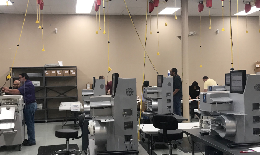 The Broward County elections office just has to count 384 duplicate ballots that were damaged during the machine recount.