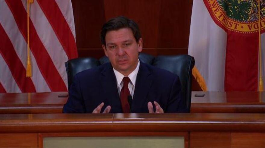"""Gov. Ron DeSantis vetoed scores of health care-related projects but also cut into what is known as the """"base budget, which includes programs funded with recurring dollars."""