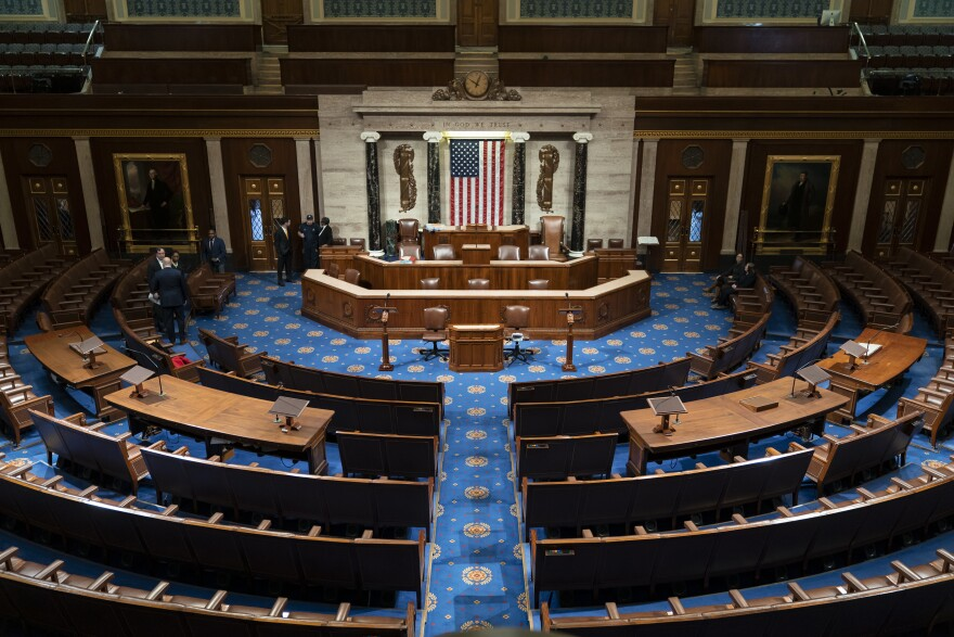 The chamber of the House of Representatives is seen before convening for the first day of the 116th Congress with Democrats holding the majority, at the Capitol in Washington, Thursday, Jan. 3, 2019.