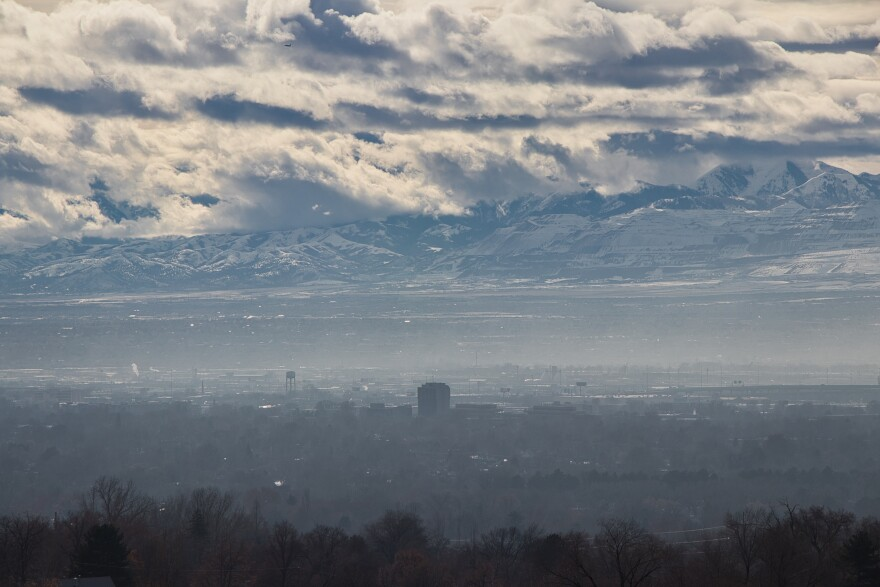 Photo of air pollution over Salt Lake City.