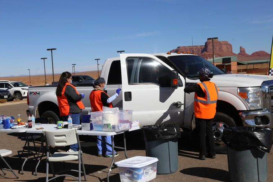 Navajo Nation Vaccination Drive Through KG.JPG
