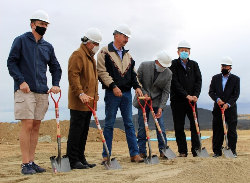 EPA Associate Deputy Administrator Doug Benevento (R) joined Anaconda's Chief Executive Officer Bill Everett, U.S. Senator Steve Daines, and local business leaders for a groundbreaking ceremony for a new hotel complex in Anaconda. October 13, 2020.