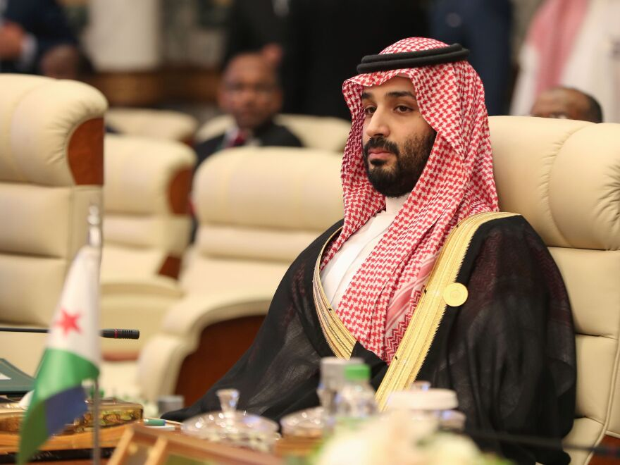 Saudi Crown Prince Mohammed bin Salman attends an Arab summit at al-Safa Royal Palace in Mecca on May 31, 2019.
