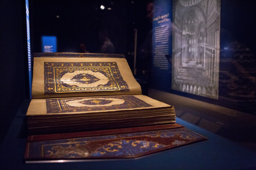The Arthur M. Sackler Gallery is showing more than 50 centuries-old Qurans, each made in countries across North Africa and Asia. This copy dates to the early 1700s.