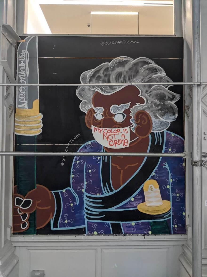 Esteban Sulé Marquez-Monsanto's mural in New York City.<strong> </strong>