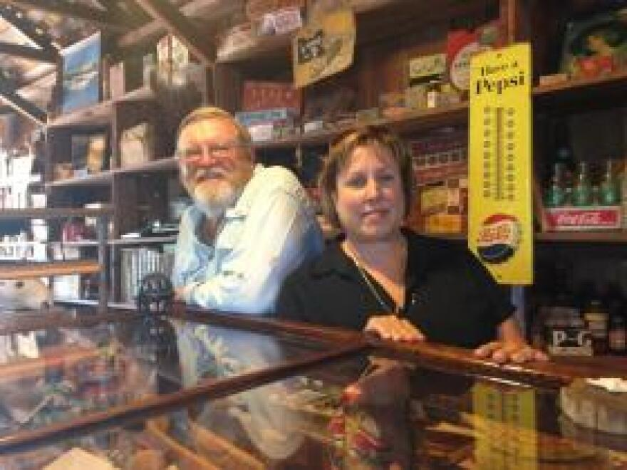 Lynn and Gary McMillin run the store as a museum.