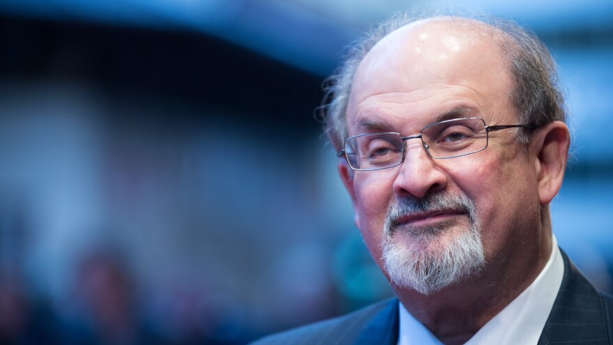 "Salman Rushdie is the author of 12 novels, including <em>Midnight's Children </em>and<em> The Satanic Verses</em><em>. </em>Rushdie was once the subject of death threats; now, when asked if he can move about freely Rushdie responds: ""You have to stop asking me. ... It's been like 16 years since it's been OK."""
