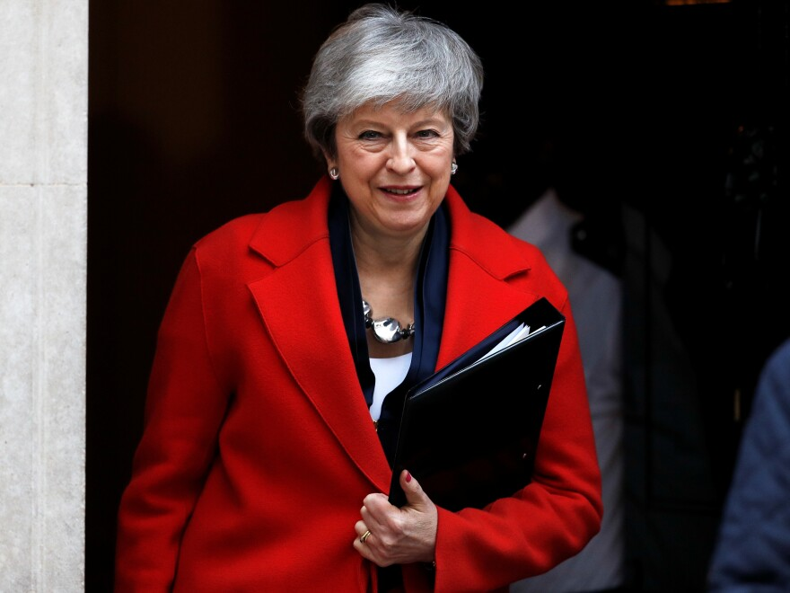 "U.K. Prime Minister Theresa May says that the House of Commons could vote on March 14 to ""seek a short, limited extension to Article 50"" — the exit clause in the EU Constitution that was triggered after the Brexit vote."