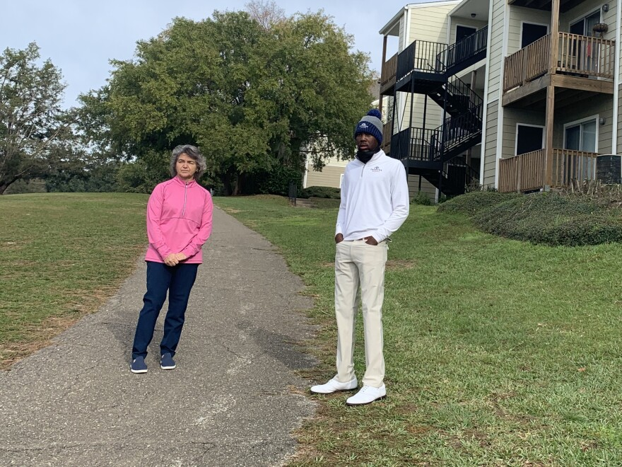 It was here, back in 2007, when Jan Auger first saw Kamaiu Johnson outside his apartment in Tallahassee, Fla. He was outside swinging a stick as a golf club. His swing was 'smooth and natural'.