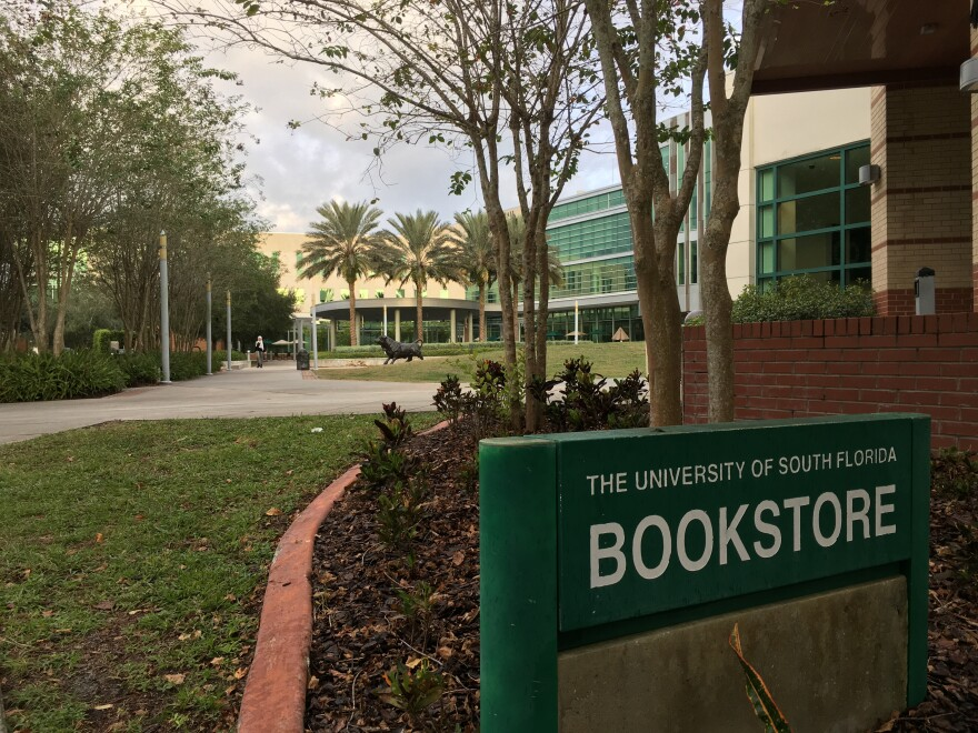 Exterior of bookstore on USF campus