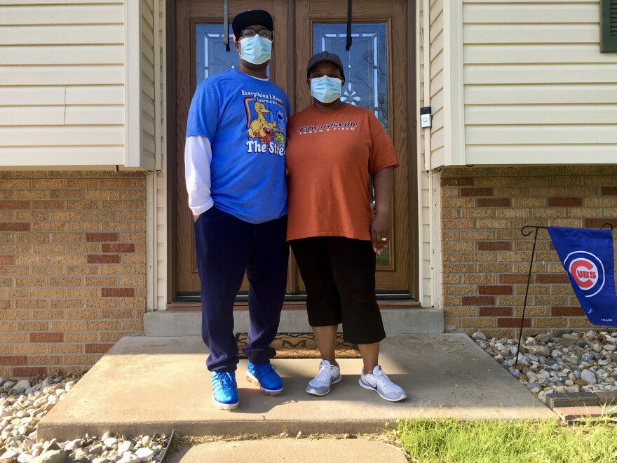 Clifford and Casondra McIntyre are home in Glen Carbon, Illinois after being hospitalized for COVID-19.