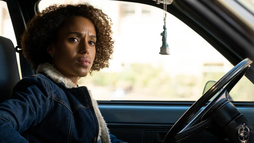 """Kerry Washington plays Mia Warren, an enigmatic artist and single mother, in the Hulu series <em>Little Fires Everywhere,</em> adapted from <a href=""""https://www.npr.org/2017/09/09/549552722/a-mother-and-daughter-upset-suburban-status-quo-in-little-fires-everywhere"""">Celeste Ng's 2017 novel.</a>"""