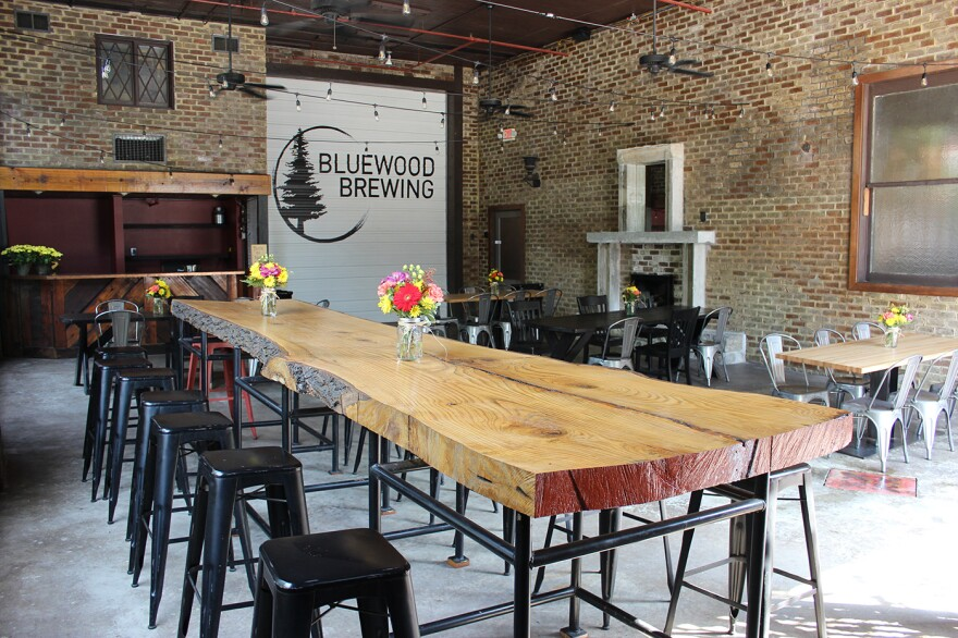 The patio at Bluewood Brewing, located on Cherokee Street in south St. Louis.
